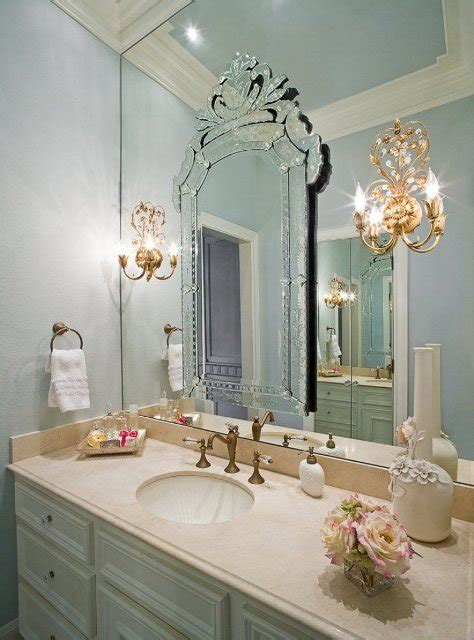 glamorous bathroom mirrors life at rose cottage old hollywood bathroom