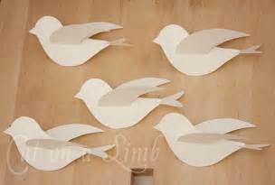 How To Make 3d Birds From Paper - best photos of paper bird with wings template flying