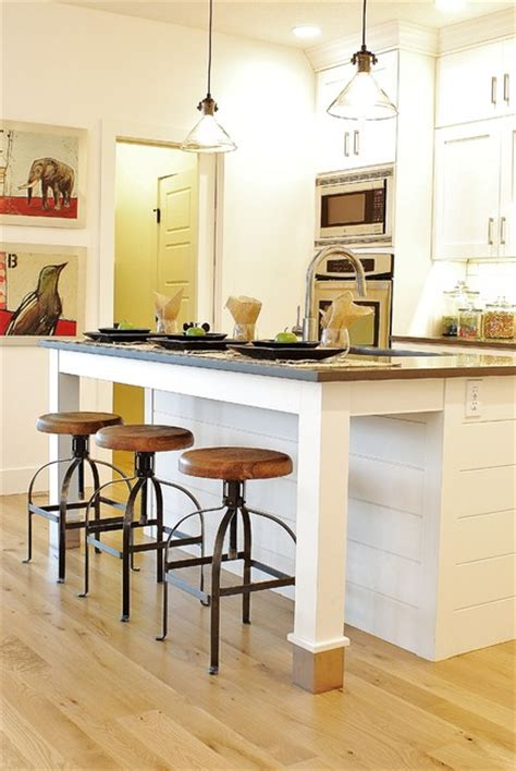 Shiplap Island White Gray Modern Farmhouse Kitchen