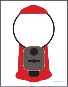 gumball machine template gumball machine printable gumball theme activity idea