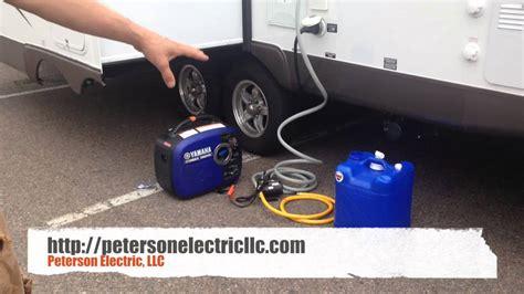 rv water transfer pump  portable generator youtube