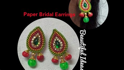 How To Make Earrings At Home With Paper - diy how to make paper earrings made out of paper