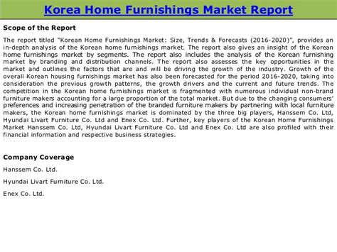 home decor market size korean home furnishings market size trends forecasts