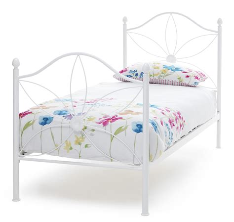 Pretty Metal Bed Frames White Bed Frame Pretty Bedstead Summertime Feel 3ft Single Ebay