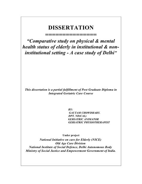 dissertation acknowledgements exles uk elderly care dissertation gautam