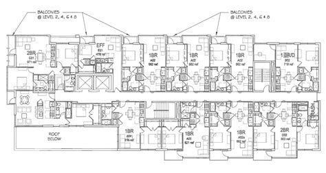 building floor plans free revised plans for apartment building at 15th v