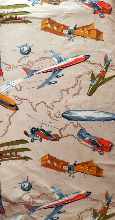 vintage airplane curtains vintage airplane fabric curtain panel vintage vintage