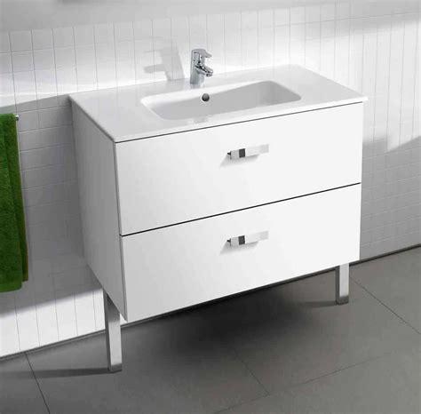 roca bathroom vanity units roca basic unik vanity unit and basin uk bathrooms