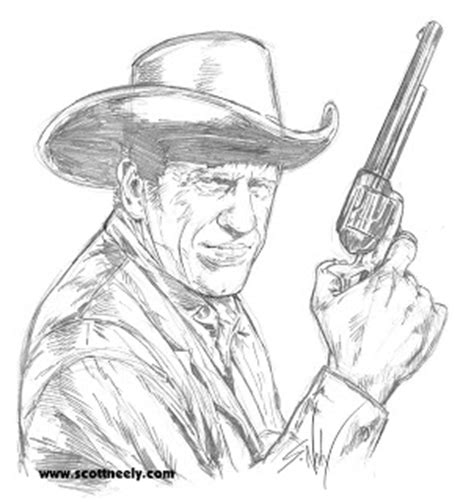 gunsmoke coloring pages scott neely s scribbles and sketches marshal matt dillon