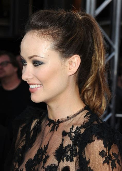 casual pony hairstyles olivia wilde casual loose ponytail hairstyles hairstyles