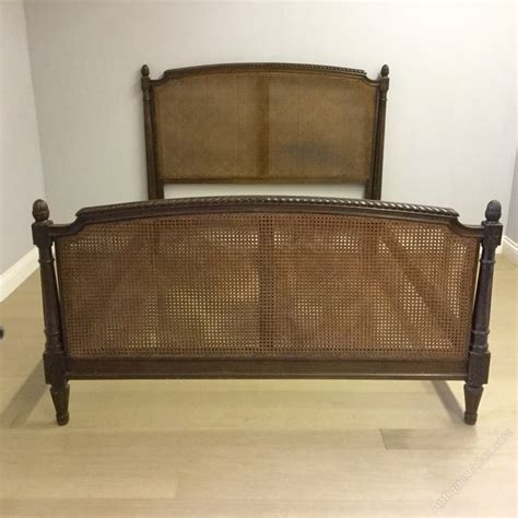 cane bed frame french antique kingsize cane bed antiques atlas