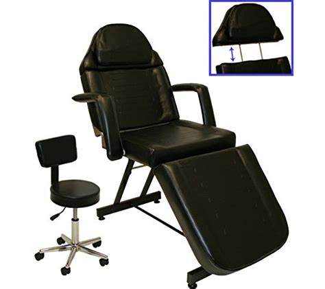 tattoo chair amazon black adjustable table bed chair
