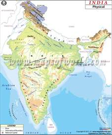 Blank Map Of India Physical by Different Types Of Maps Of India Bragitoff Com