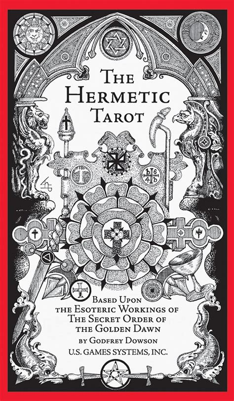 hermetic tarot deck 091386692x u s games systems inc gt tarot inspiration gt hermetic tarot deck