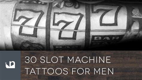 slot machine tattoo 30 slot machine tattoos tattoos for