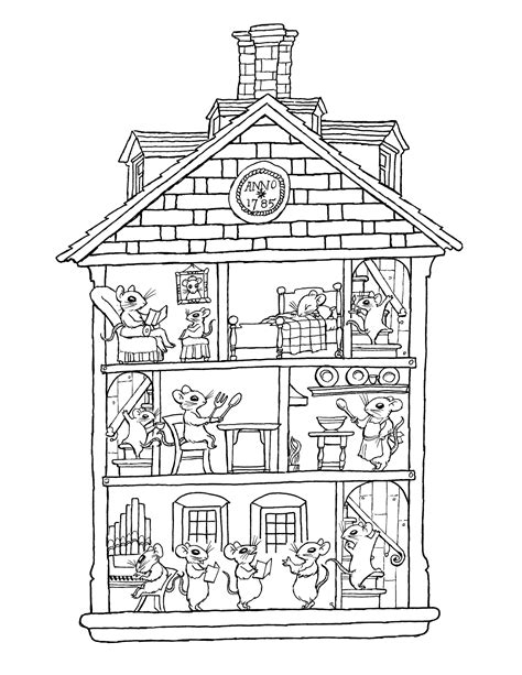 house pattern coloring page houses and homes coloring pages for preschool