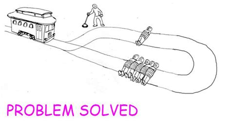 trolley problem or would the final solution the trolley problem know your meme