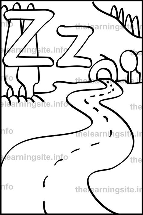 coloring pages for zigzag free coloring pages of z for zigzag