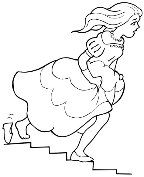 cinderellas glass slipper coloring pages www pixshark