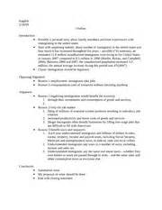 Causal Argument Essay by Causal Argument Outline 1 Filing Of Millions Of Essential Worker Resulting In
