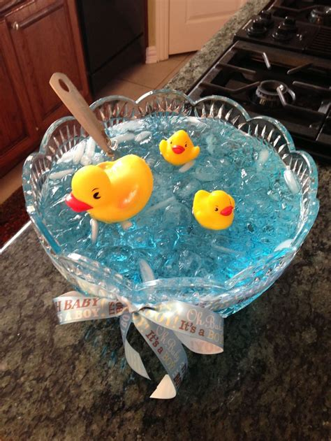 nautical baby shower punch blue raspberry kool aid