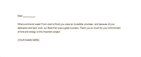 Thank You Letter Volunteer Opportunity volunteer thank you letter 11 free sle exle