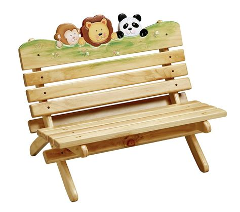 kids outdoor bench dreamfurniture com teamson kids outdoor sunny safari bench