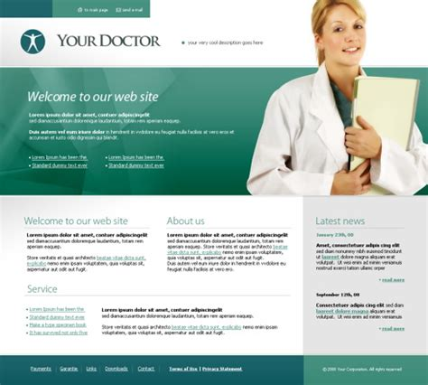 5370 Flash Education Medical Flash Templates Dreamtemplate Doctor Website Template Free