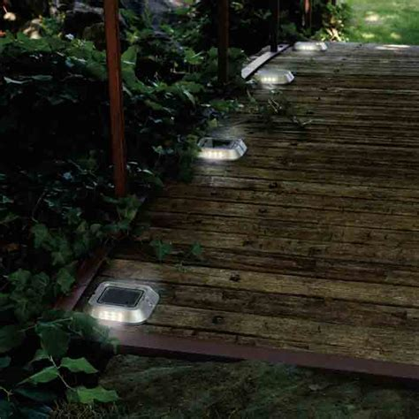 solar pathway lights costco 12 pack solar multi function led marker lights driveway