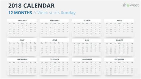 Powerpoint Calendar Template 2018 Free