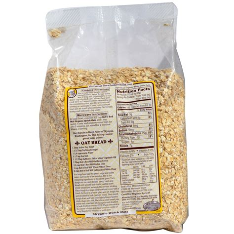 Organic Rolled Oats Sereal 500 Gr bob s mill organic cooking rolled oats whole grain 32 oz 2 lbs 907 g iherb