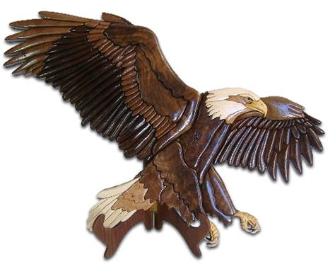 american eagle woodworking american bald eagle intarsia sold freida flickr