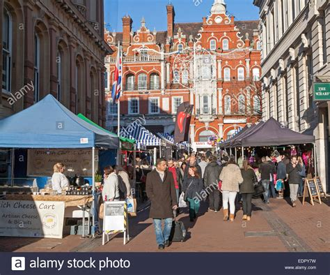 crowds of people christmas shopping in town centre of