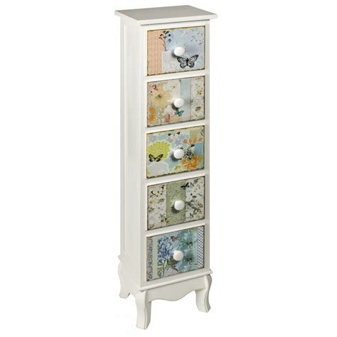 chloe shabby chic narrow tallboy chest french furniture from homesdirect 365 uk