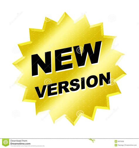 The Version by New Version Sign Stock Illustration Illustration Of