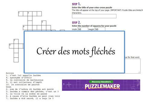 Fabriquer Une Grille De Mots Croisés by Mots Meles A Fabriquer