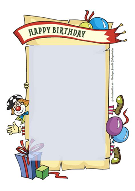 Word Vorlage Happy Birthday Drucke Selbst Kostenlose Geburtstagskarte Happy Birthday