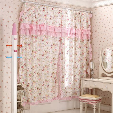 Girl Bedroom Curtains | sweet floral girl bedroom curtains with lace rims
