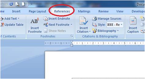 membuat daftar pustaka word 2007 belajar bekerja dan berkarya membuat sitasi dan daftar