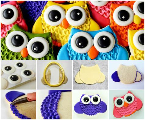 Super Colorful by How To Make Super Cute Colorful Owl Cookies