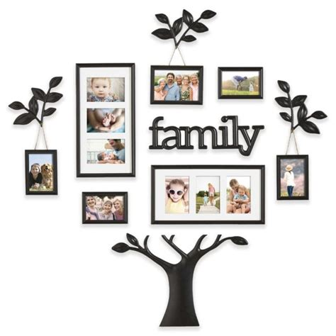 9 piece family tree wall photo frame set hanging frames picture home decor gift ebay family tree photo frame 13pc black wall set picture