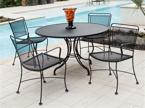 Wrought Iron Patio Table Set Woodard Constantine Wrought Iron Dining Set Conds