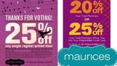 maurices outlet printable coupons maurices coupons on pinterest 19 photos on coupon