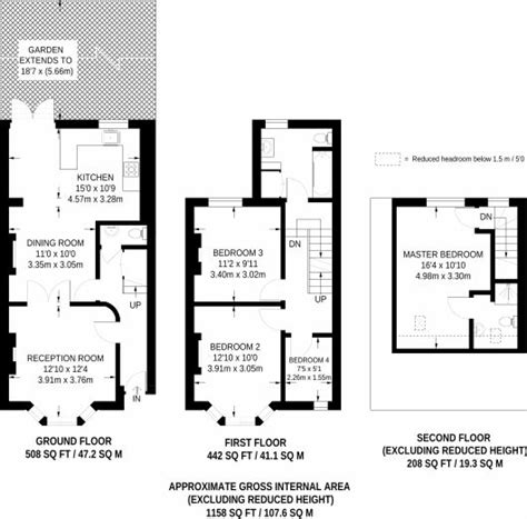 terraced house loft conversion floor plan 14 best floor plans terraces images on pinterest side