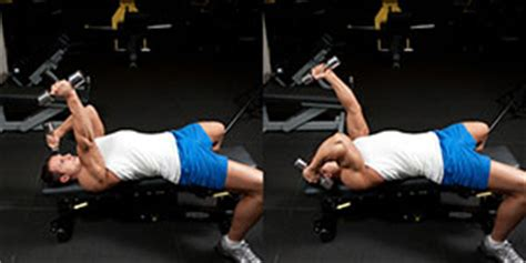 decline bench triceps extension alternating decline dumbbell triceps extension weight training exercises 4 you