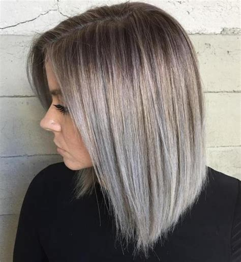 high lighted hair with gray roots 45 ideas of gray and silver highlights on brown hair