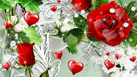 roses and hearts wallpapers wallpaper cave