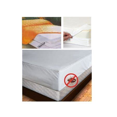 full size mattress cover zipper waterproof plastic bed bug dust mites allergens walmartcom
