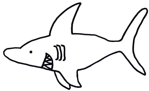 shark drawing template clipart best