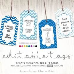 bag tag template word editable gift tags gift tag template text editable chevron